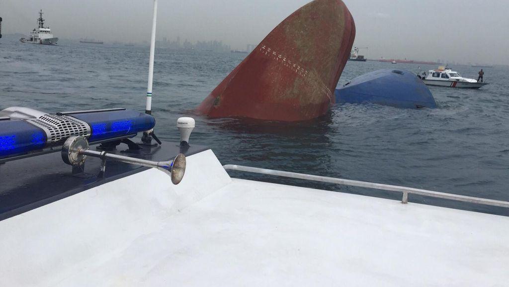 2 Kapal Tanker Bertabrakan di Perairan Kepri, 1 Tenggelam