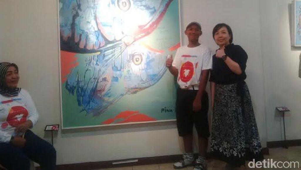 Hebat, 12 Anak Berkebutuhan Khusus di Surabaya Pameran Lukisan