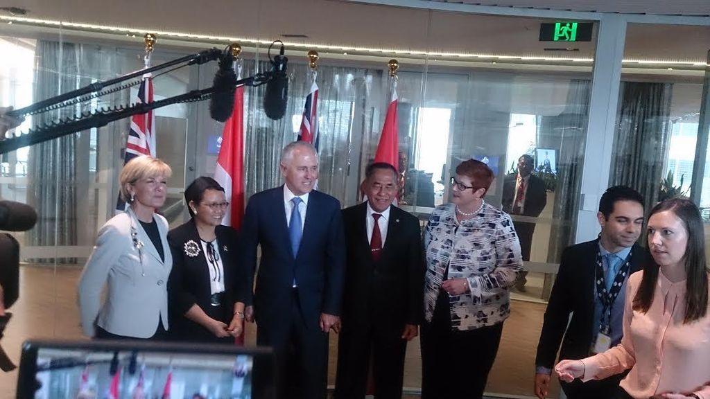 Disambut PM Turnbull, Menteri Retno dan Ryamizard Hadiri 2+2 Meeting di Sydney