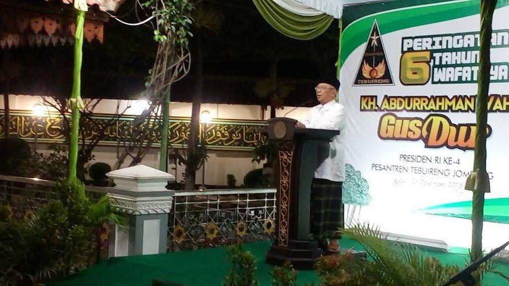 Pidato di Haul Gus Dur, Gus Solah Sebut Tokoh NU Kini Hanya Ambil Untung