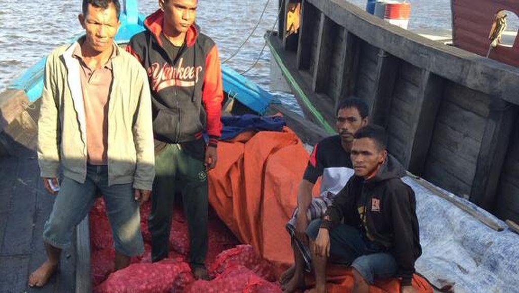 Polres Dumai Tangkap Kapal Penyelundup 5 Ton Bawang Merah dari Malaysia