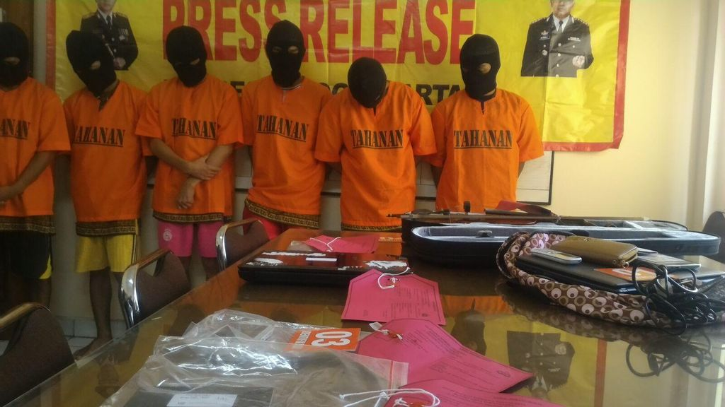 Polisi Bekuk Komplotan Mahasiswa Pencuri Di Yogya