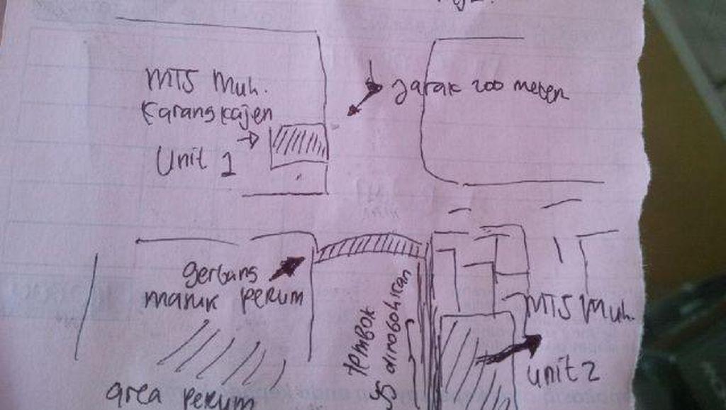 Ini Denah Perumahan, MTs Muhammadiyah Karangkajen, dan Tembok yang Dibongkar