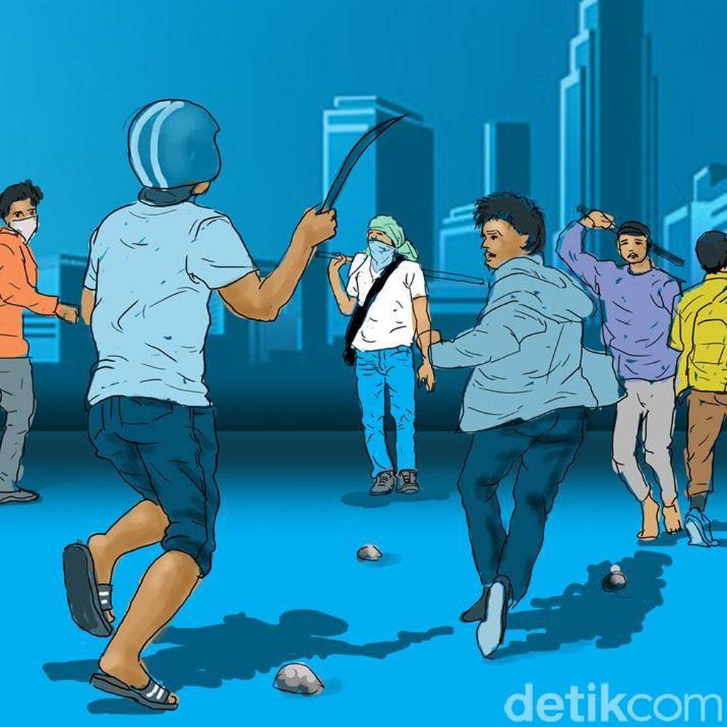 Tawuran Warga Terjadi di Cililitan Jakarta Timur Dini Hari
