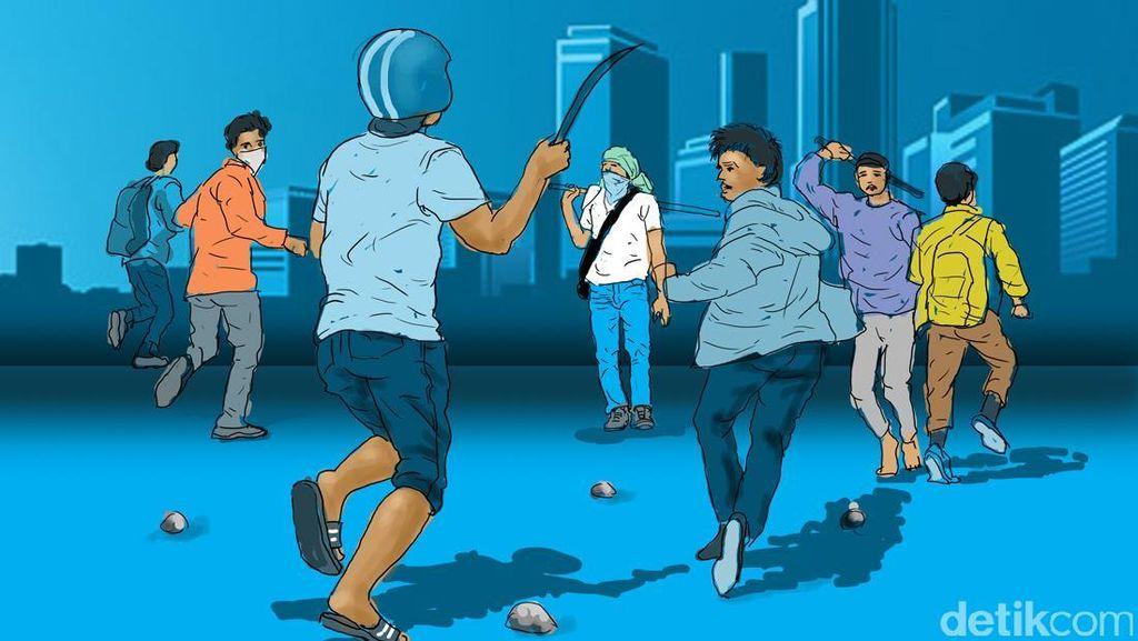 Polisi Buru Pelaku Tawuran yang Tewaskan Pelajar di Belakang LP Cipinang