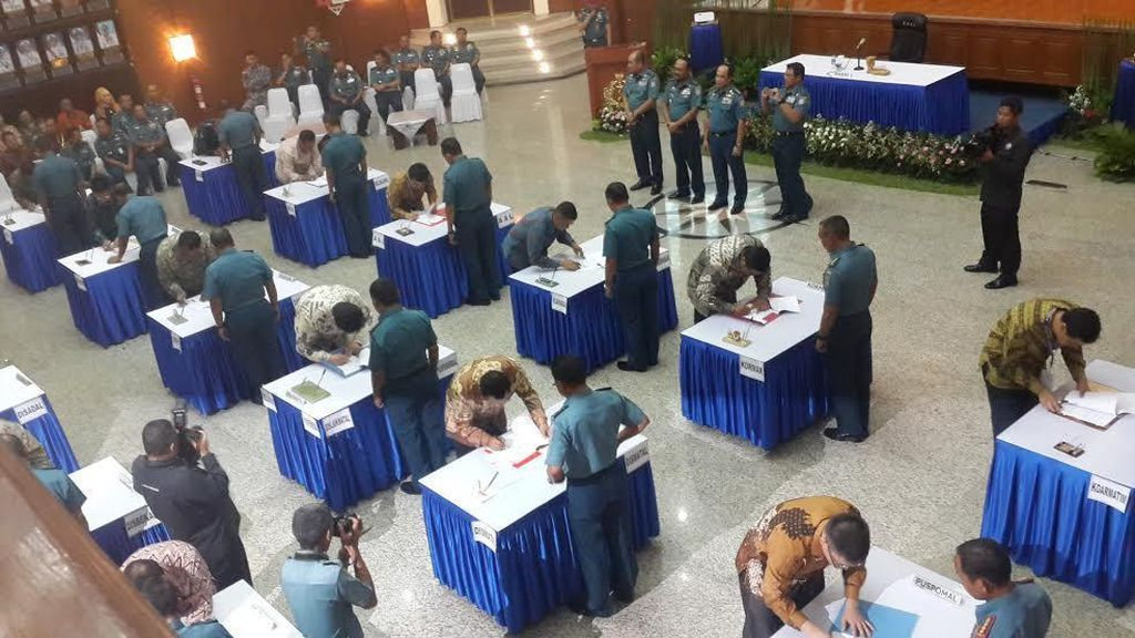 TNI AL Teken 154 Kontrak Pengadaan Barang dan Jasa Senilai Rp 1,1 T
