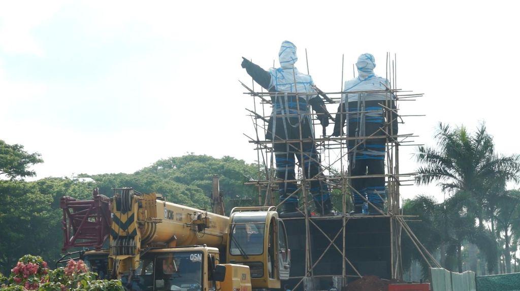Patung Soekarno-Hatta di Bandara Cengkareng Batal Dipindahkan Malam Ini