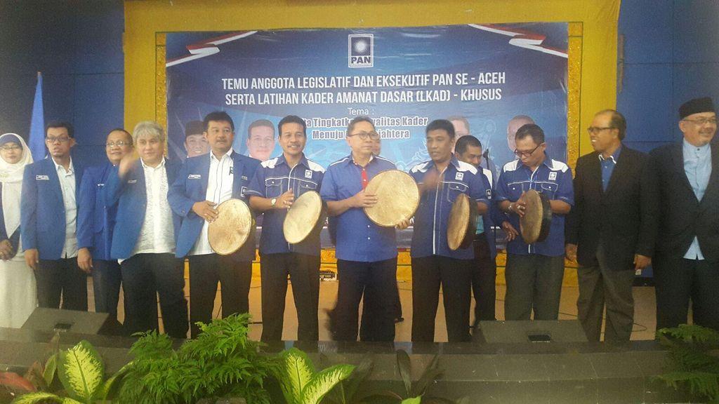 Zulkifli Hasan Umumkan PAN Usung Ahmad Farhan Hamid Sebagi Cagub Aceh 2017