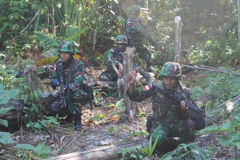 Begini Aksi Prajurit TNI Tempuh Medan Berat, Cek Patok di Perbatasan RI-Papua Nugini
