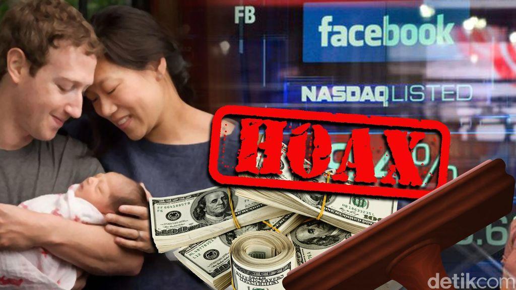 Putri Pertama Lahir, Mark Zuckerberg Bagi-bagi Uang ke Pengguna Facebook?