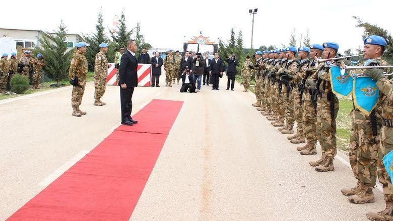 Menhan Ryamizard Sambangi Prajurit TNI Indobatt di Libanon Selatan