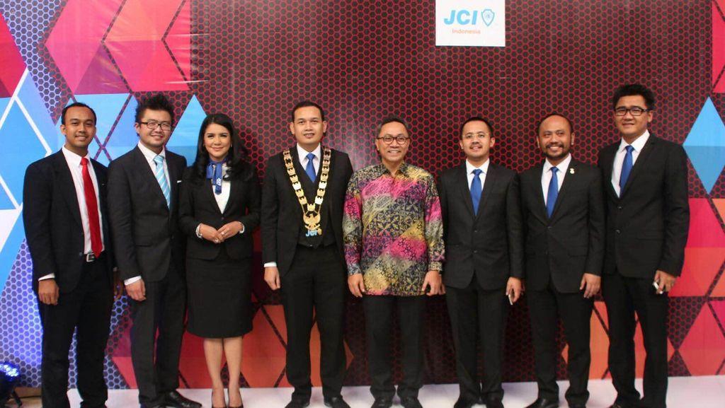 Ketua MPR Hadiri Pengukuhan Pengurus Junior Chamber Indonesia