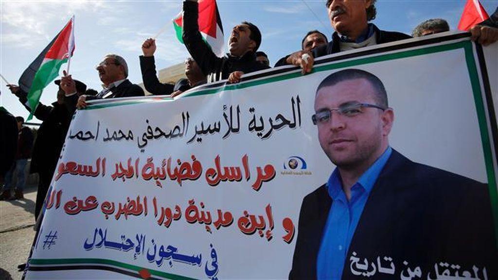 Mogok Makan 64 Hari, Kondisi Jurnalis Palestina yang Ditahan Israel Kritis