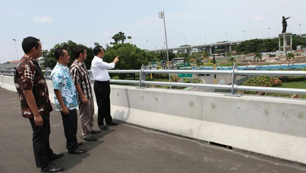 Ini Patung Soekarno-Hatta di Lokasi Baru Bundaran Terminal 3 Cengkareng