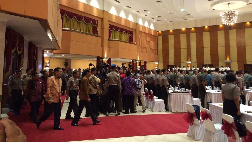 Presiden Jokowi Hadiri Rapim Polri-TNI di PTIK