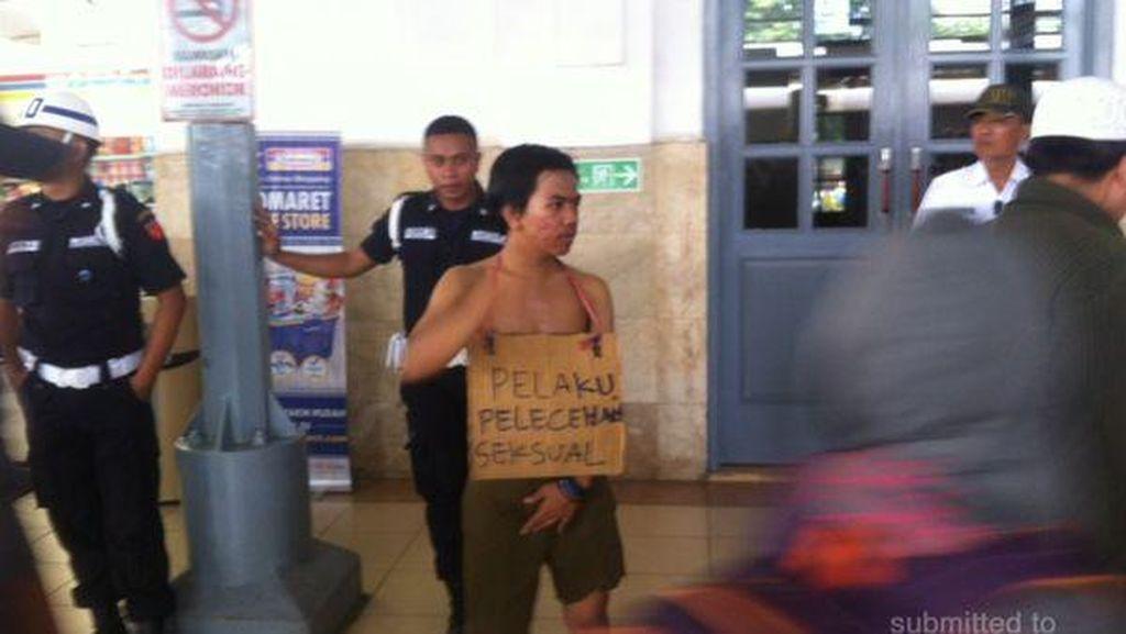 Ini Aksi Tak Senonoh Pelaku Pelecehan yang Dipajang di Stasiun Jatinegara