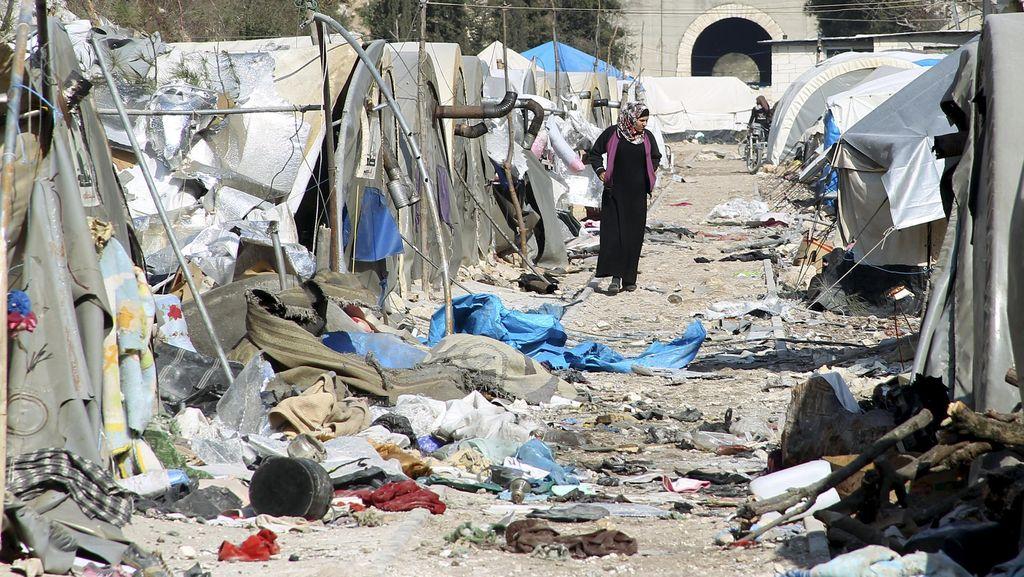 Serangan Udara di Kamp Pengungsi di Dekat Turki Tewaskan 28 Orang