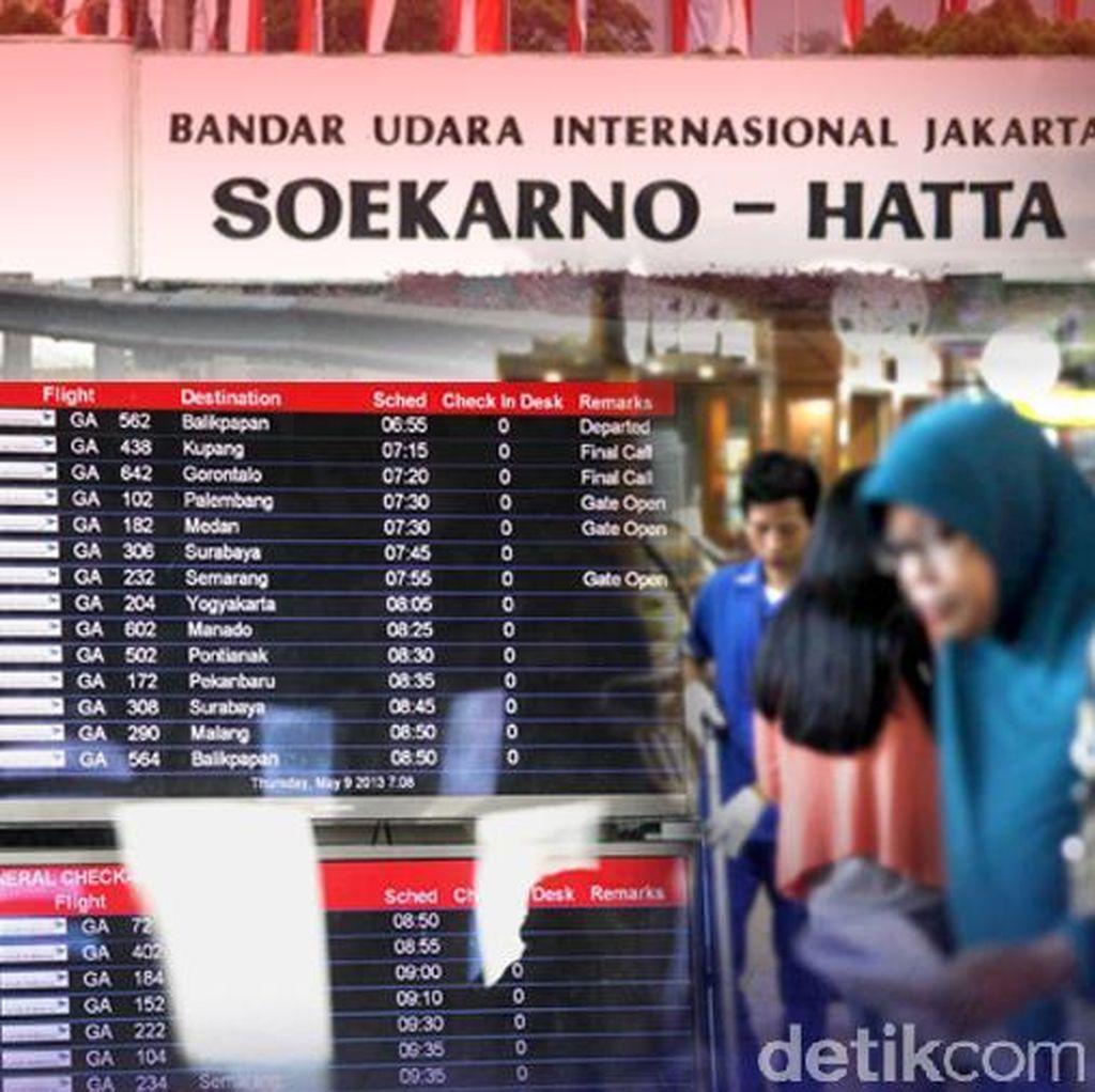 Penumpang di Bandara Soetta dan Halim Perdanakusuma Melonjak Hingga 30 Persen