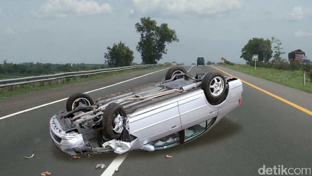 Taksi Gamya Alami Kecelakaan Tunggal di Tol Kamal KM 26 Arah Pluit