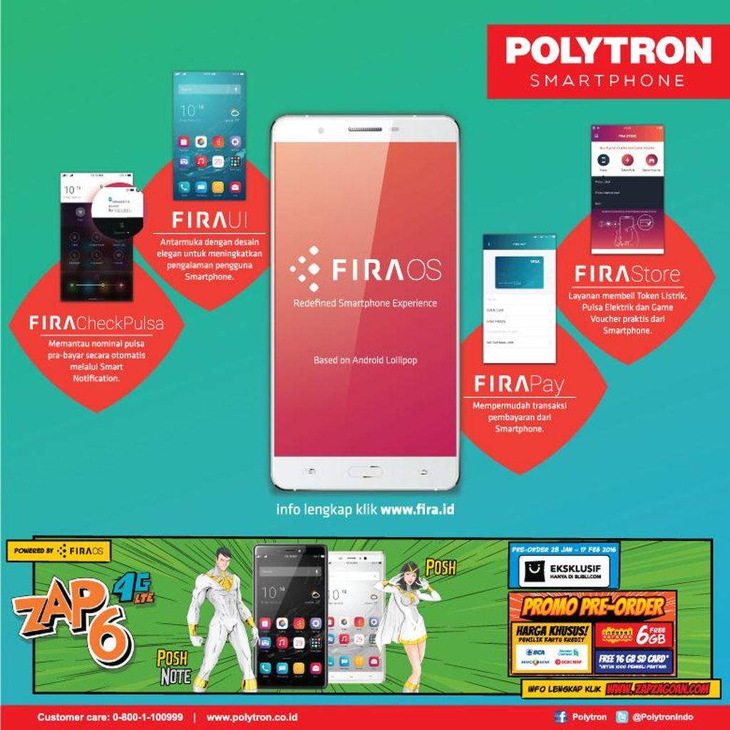 Fira OS dari Polytron Berikan Sejumlah Kemudahan bagi Pengguna Smartphone