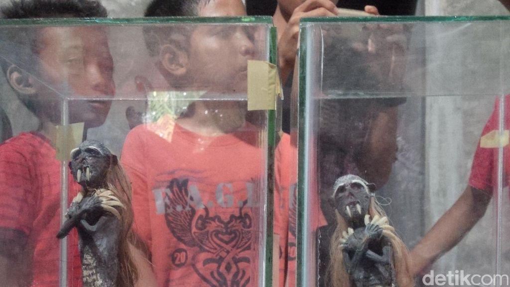 Heboh di Binjai, Pria ini Temukan Jenglot dan Keris Raksasa di Kebun Sawit
