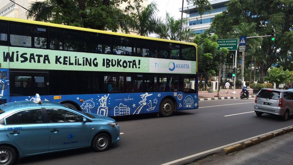 Kini Bus Tingkat City Tour Dikawal Motor Dishub DKI