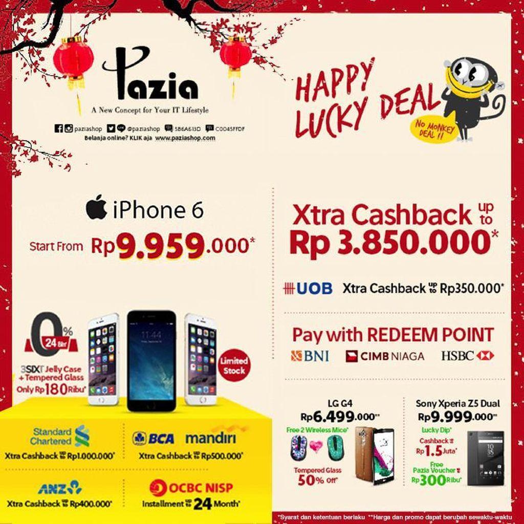 Sambut Imlek di Pazia dan Nikmati Promo Happy Lucky Deal