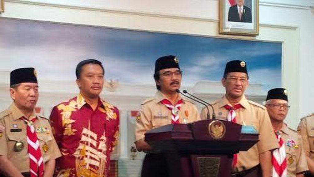 Jokowi Bahas Persiapan Jambore Pramuka 14 Agustus di Istana