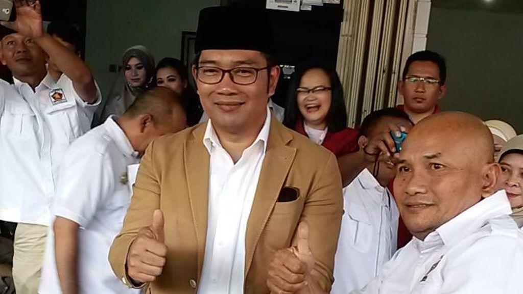 Begini Respons Ridwan Kamil saat Dicecar Kader Gerindra soal Pilgub DKI