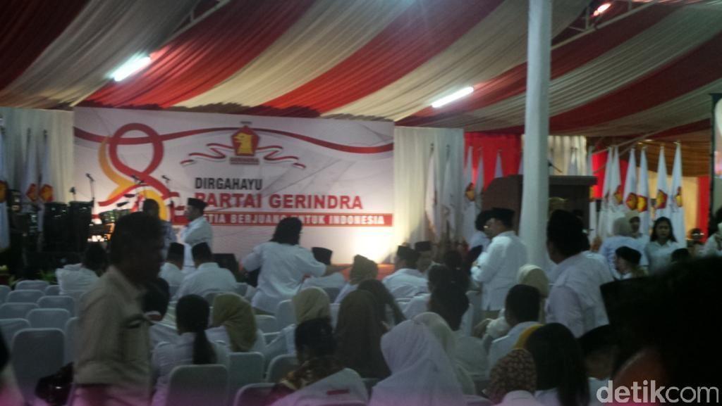 Rayakan HUT ke-8 Gerindra, Prabowo: Teguhkan Tekad Kita!