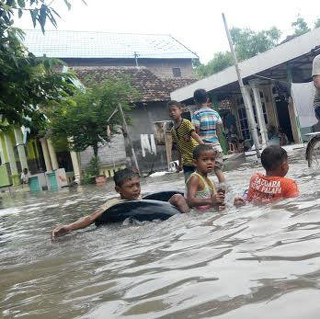 Sungai di Mojokerto Meluap Menyebabkan 8 Desa Banjir