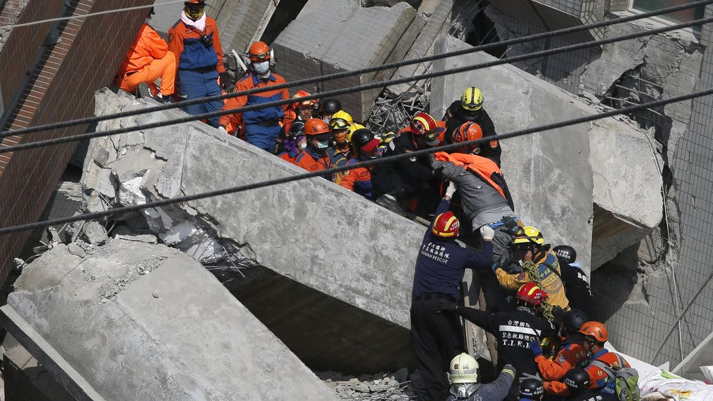 Korban Tewas Gempa Taiwan Mencapai 116 Orang