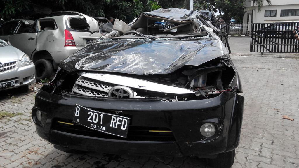 Polisi: Mobil Fortuner B 201 RFD Milik Sipil