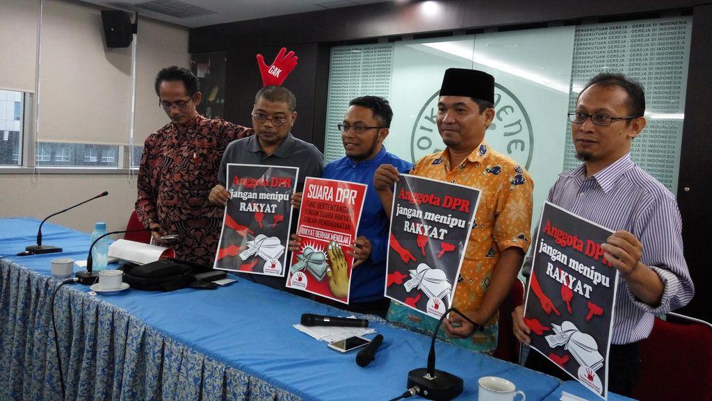 Elemen Masyarakat Tolak Revisi UU KPK