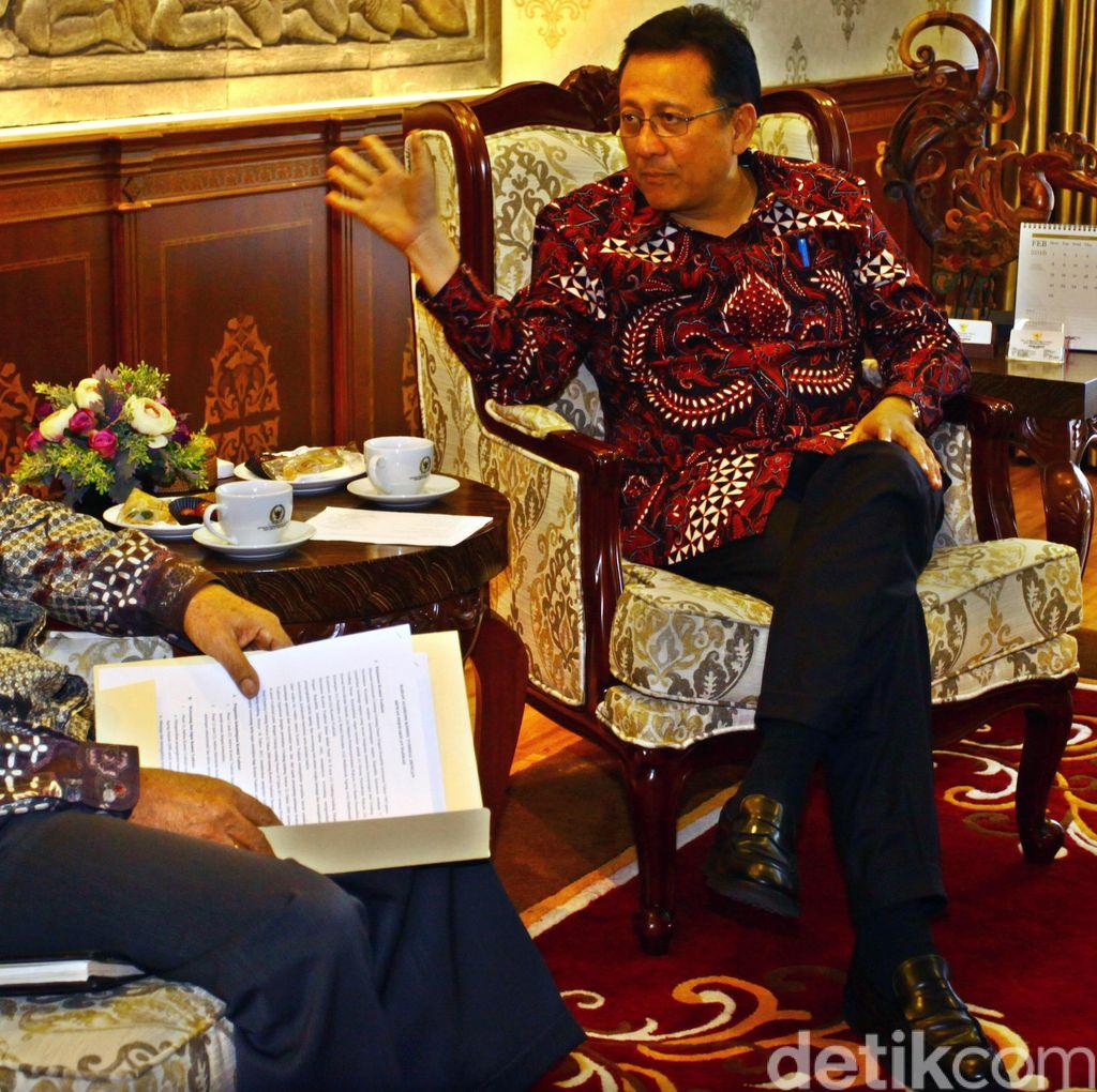 Komisioner KY Temui Ketua DPD
