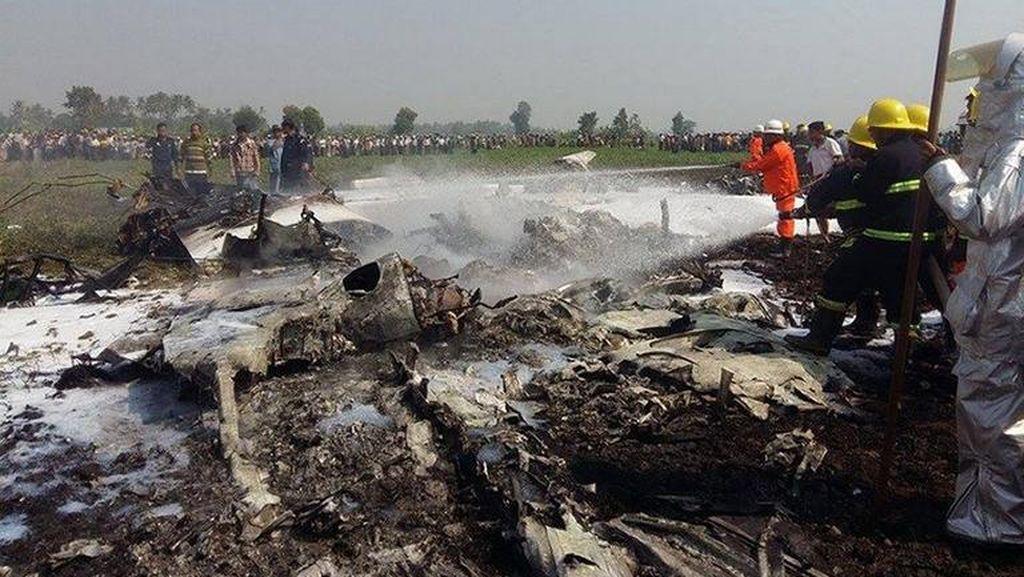 Pesawat Militer Myanmar Jatuh Saat Patroli, 4 Tentara Tewas