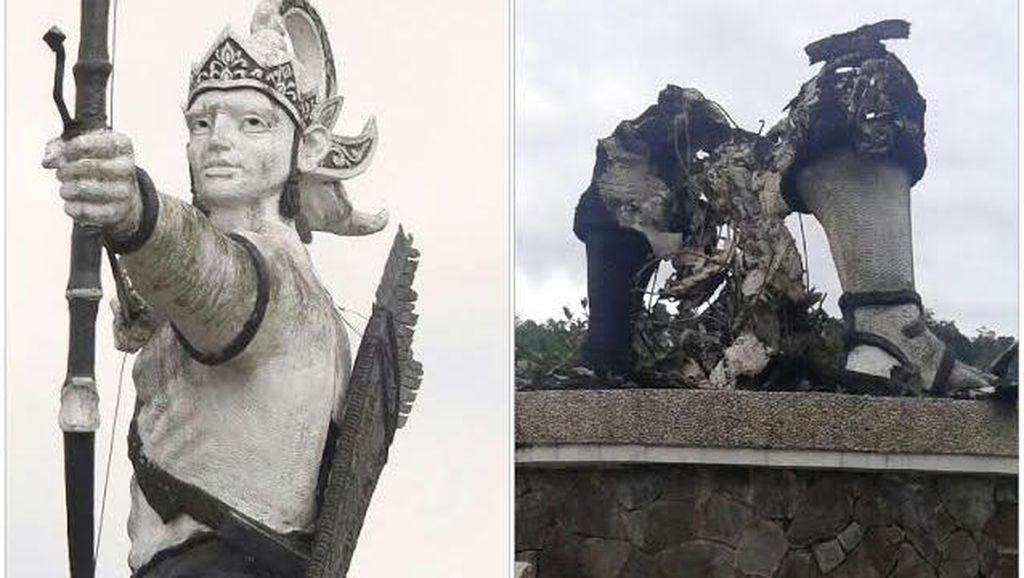 Bupati Dedi akan Ganti Patung Arjuna yang Dibakar Jadi Tokoh Silat Syahbandar