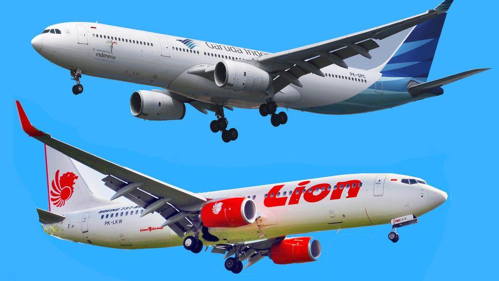 Garuda-Lion Nyaris Tabrakan, Ada 10 Pesawat Lebih Holding di Sekitar Bali