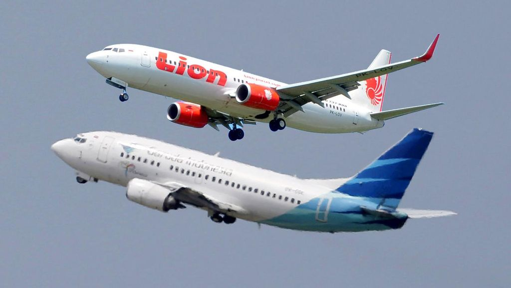 Penampakan Garuda-Lion Air Berputar di Titik Berdekatan di Flightradar24