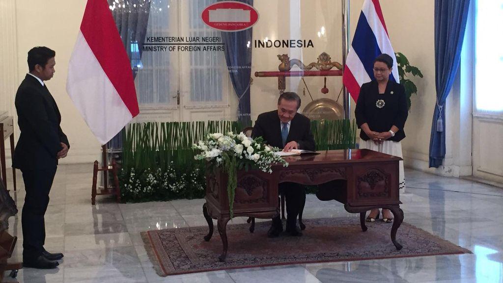 Kunjungi RI, Menlu Thailand Bahas Terorisme dan Kejahatan Transnasional