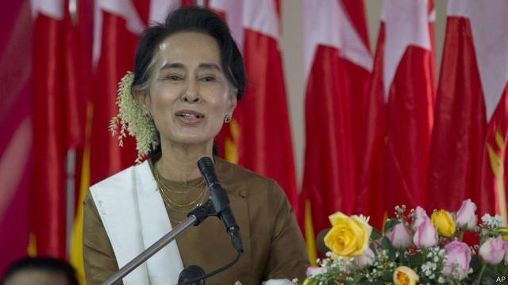 Dapat Ancaman Pembunuhan, Suu Kyi Dilindungi Polisi Myanmar Pertama Kali