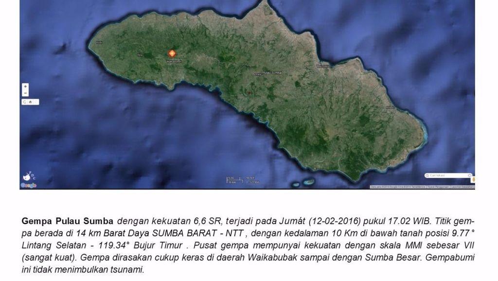 Gempa 6,6 SR Guncang Sumba Barat, Komunikasi ke Lokasi Terganggu