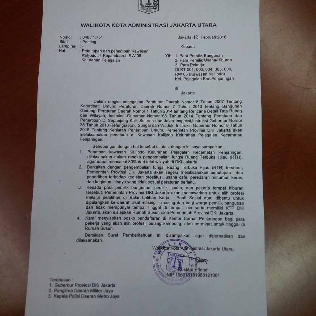 Wali Kota Jakut Segera Kirim Surat Penutupan Lokalisasi Kalijodo