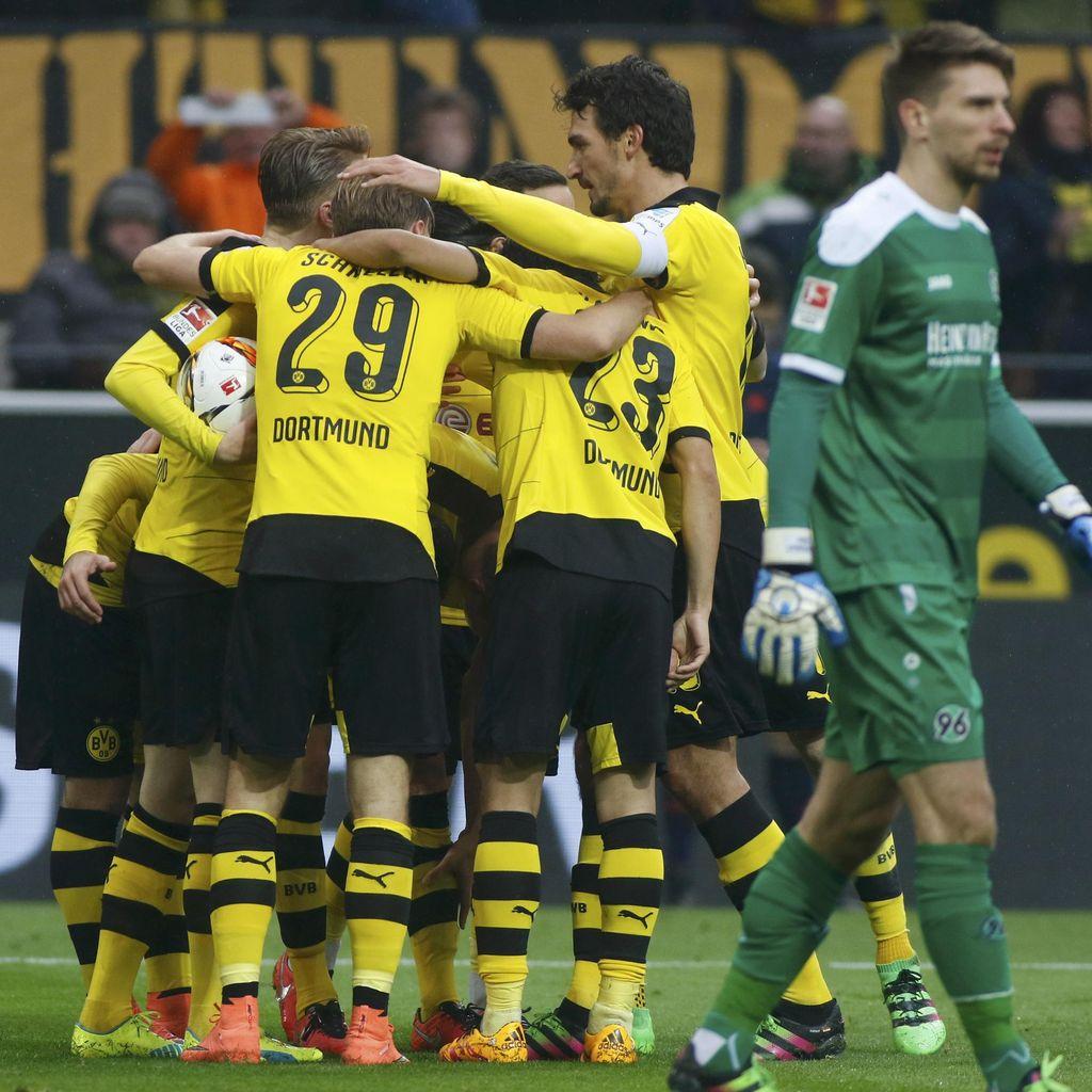 Dortmund Menang Tipis atas Hannover