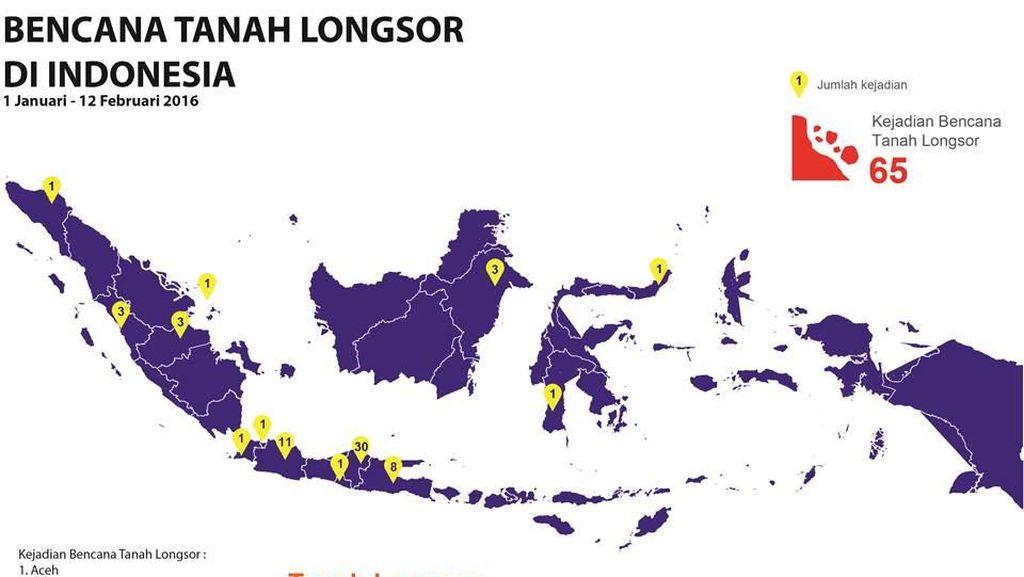 Jelang Musim Hujan, BNPB Diminta Buat Peta Rawan Banjir dan Longsor