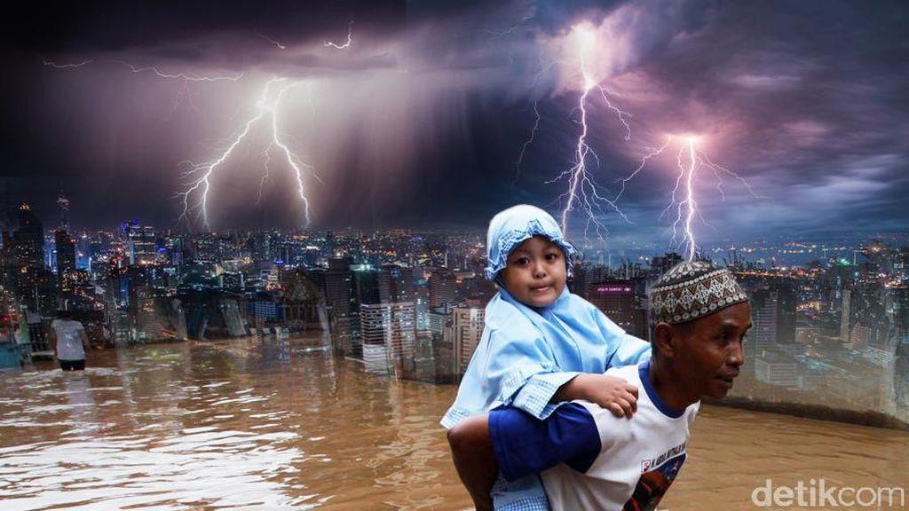 Genangan Air Muncul di Villa Nusa Indah, Bekasi Setelah Hujan Deras Melanda