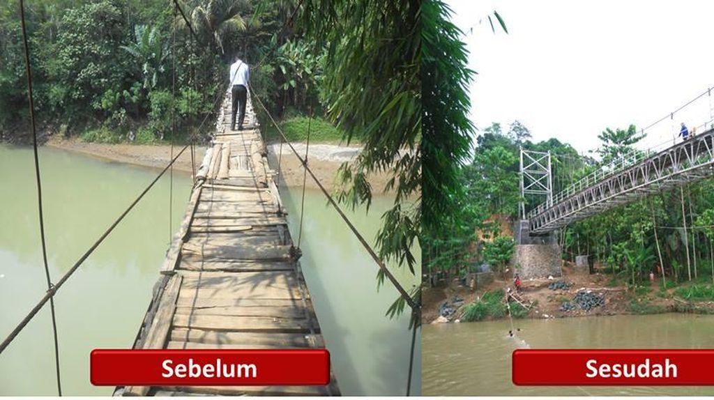 Jokowi Pamer Proyek Kecil 10 Jembatan Baru di Lebak Banten