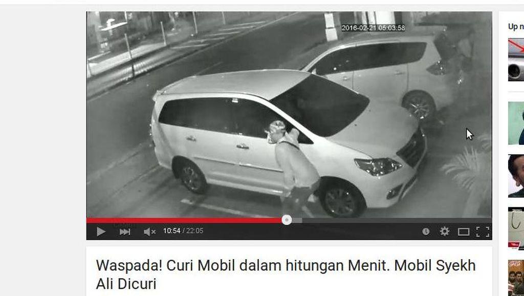 Aksi Pencuri Mobil Syekh Ali Jaber Terekam CCTV
