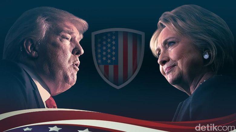 Polling Terbaru: Donald Trump Kini Ungguli Hillary Clinton