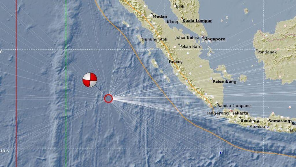 BNPB: Gempa 7,8 SR Mentawai Bukan Megathrust